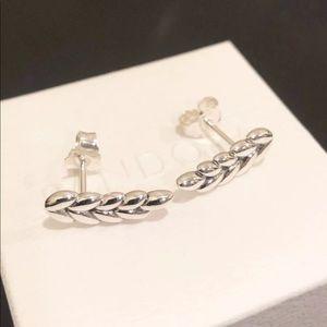 59e918500 Pandora Jewelry | Curved Grains Earrings 297730 | Poshmark